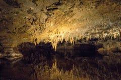 Den hypnotisera naturliga under av Luray Caverns arkivbilder