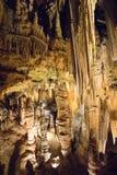 Den hypnotisera naturliga under av Luray Caverns royaltyfri foto