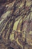 Den i lager basaltet vaggar klippan arkivfoton