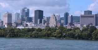 Den i stadens centrum Montrealen Arkivbilder