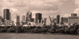 Den i stadens centrum Montrealen Arkivfoto