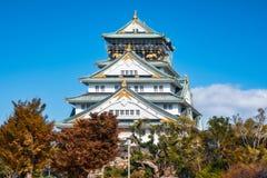 Den iconic Osaka Castle i Japan royaltyfri foto