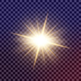 Den idérika begreppsvektoruppsättningen av bristningar för stjärnor för ljus effekt för glöd med mousserar isolerat Royaltyfri Foto