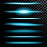 Den idérika begreppsvektoruppsättningen av bristningar för stjärnor för ljus effekt för glöd med mousserar isolerat på svart bakg Arkivbild