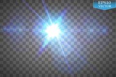 Den idérika begreppsvektoruppsättningen av bristningar för stjärnor för ljus effekt för glöd med mousserar isolerat på svart bakg vektor illustrationer