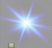 Den idérika begreppsvektoruppsättningen av bristningar för stjärnor för ljus effekt för glöd med mousserar isolerat vektor illustrationer