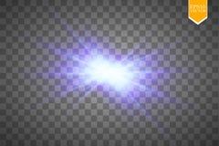 Den idérika begreppsvektoruppsättningen av bristningar för stjärnor för ljus effekt för glöd med mousserar på svart bakgrund för royaltyfri illustrationer
