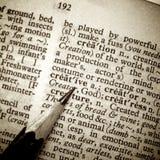 den idérika definitionen ut pencil spets Royaltyfri Foto