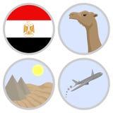 Egypten reser royaltyfri illustrationer