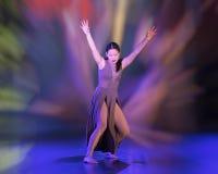 Den idrotts- dansflyttningen utförde vid Amerasian en tonårs- flicka royaltyfria bilder