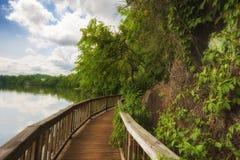 Den Ijam naturen parkerar strandpromenaden längs Tennessee River Arkivbilder