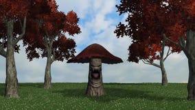 Den ilskna stora bruna champinjonen dör 2 royaltyfri illustrationer