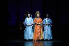 Den imperialistiska concubines-baksidan till demoderna dramakejsarinnorna i slotten Royaltyfri Foto