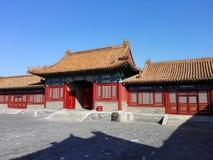 Den imperialistiska slottbyggnaden i Kina Royaltyfria Bilder