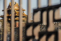 Den imperialistiska slotten i fenceï¼en Œ Kina Royaltyfria Bilder