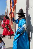 Den imperialistiska slotten, Sydkorea scenisk fläck - Gyongbokkung Royaltyfri Foto