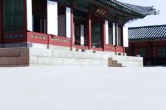 Den imperialistiska slotten, Sydkorea scenisk fläck - Gyongbokkung Royaltyfri Fotografi