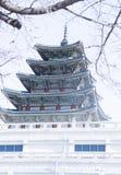 Den imperialistiska slotten, Sydkorea scenisk fläck - museum Gyongbokkung för nationell slott Royaltyfri Foto