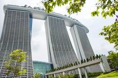 Den inbyggda semesterorten av Marina Bay Sands, Singapore Arkivfoto
