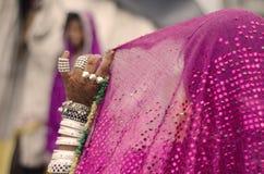 Den indiska bruden Arkivfoto