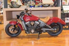 Den indiska motorcykeln spanar 2015 Royaltyfria Foton