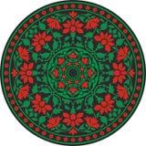 Den indiska traditionella modellen i färg - blomma mandalaen Arkivbilder