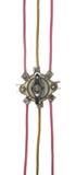 Den industriella elektriska strömbrytaren med mång--färgade trådar isolerade nolla Royaltyfri Foto