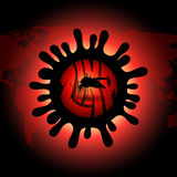 Den infekterade illustrationen för myggavektorsymbolen - stoppa zikaviruset Royaltyfria Foton