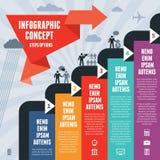Den Infographic affärsidéen kliver alternativ Arkivbilder