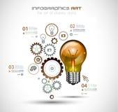 Den Infographic orienteringen för idékläckningbegreppsbakgrund med grafer skissar Stock Illustrationer