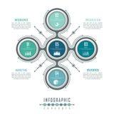 Den Infographic timelinemallen kan användas för diagrammet, diagrammet, rengöringsdukdesignen, presentationen, advertizingen, his Arkivfoto