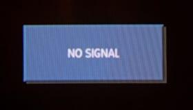 Den ingen Digital tv:n signalerar undertecknar Fotografering för Bildbyråer