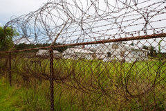 den ingen lägerstaketkeepen fängslar ut att inkräkta för säkerhet Royaltyfria Bilder