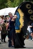 den inman atlanta festivalen ga ståtar parken Royaltyfri Fotografi