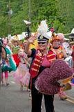 den inman atlanta festivalen ga ståtar parken Arkivfoto