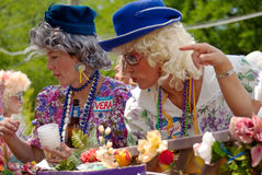 den inman atlanta festivalen ga ståtar parkfjädern Royaltyfria Foton