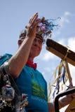 den inman atlanta festivalen ga ståtar parkfjädern Arkivfoton