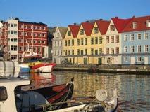 Den inre hamnen, Torshavn, Färöarna arkivfoto