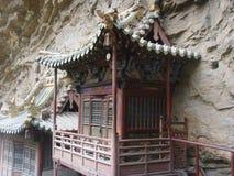 Den inställda ‰en för ¼ för templeï för Templeï ¼ˆxuankong, Royaltyfri Bild