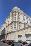 Den interkontinentala Carlton Cannes på Croisette Arkivfoto