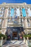 Den interkontinentala Carlton Cannes på Croisette Royaltyfri Foto