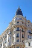 Den interkontinentala Carlton Cannes på Croisette Fotografering för Bildbyråer