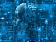 den interna androiden avslöjer teknologi royaltyfri illustrationer