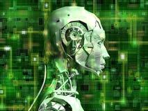 den interna androiden avslöjer teknologi stock illustrationer