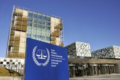Den internationella brottmålsdomstolen Royaltyfria Bilder