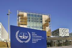 Den internationella brottmålsdomstolen Royaltyfri Fotografi