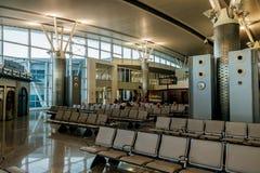Den internationella flygplatsen av Enfidha Hammamet i Tunisien Arkivfoto