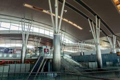 Den internationella flygplatsen av Enfidha Hammamet i Tunisien Royaltyfri Bild