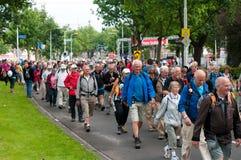 Den internationella fyra daggränser Nijmegen Royaltyfri Fotografi