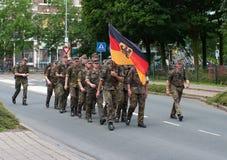 Den internationella fyra daggränser Nijmegen Royaltyfri Bild